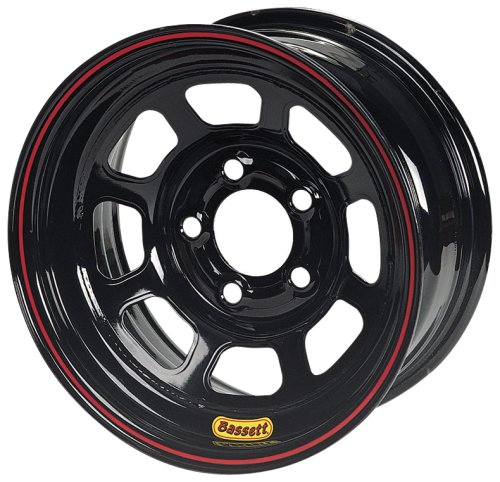 Bassett Wheel D-Hole DOT Black Powder Coat -