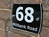Modern/Contemporary Acrylic/ House Number/Sign/Plaque/ Your Name/Number/Street (Black)