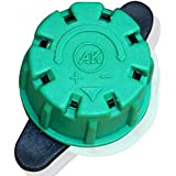 Generic Wholesale 200pcs Green 8 Hole Adjustable Dripper Barbed Connector For 4/7mm Hose Garden Home Drip Irrigation...