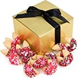 Valentine Hand Dipped and Decorated Fortune Cookies Gift Box