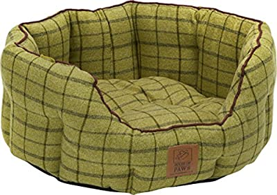 House of Paws Tweed Oval Dog Bed