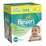 Pampers Natural Clean Wipes 7x Box 504 Count Baby, NewBorn, Children, Kid, Infant