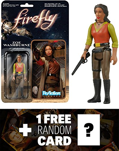 Zoe Washburne: Funko ReAction x Firefly Action Figure + 1 FREE Official Firefly Trading Card Bundle (38588)