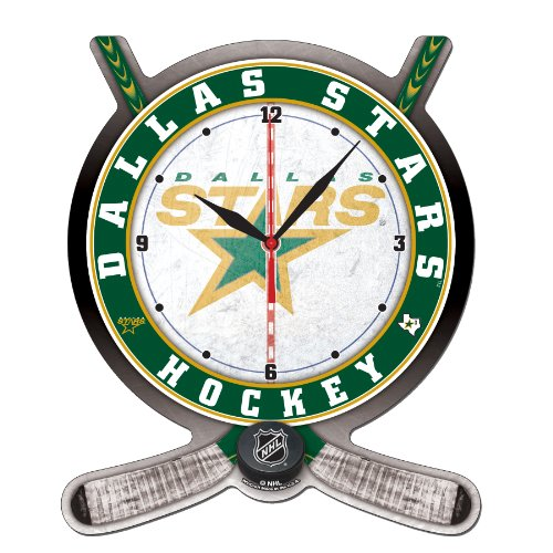 NHL Dallas Stars High Definition Clock - Hockey Stick and Puck