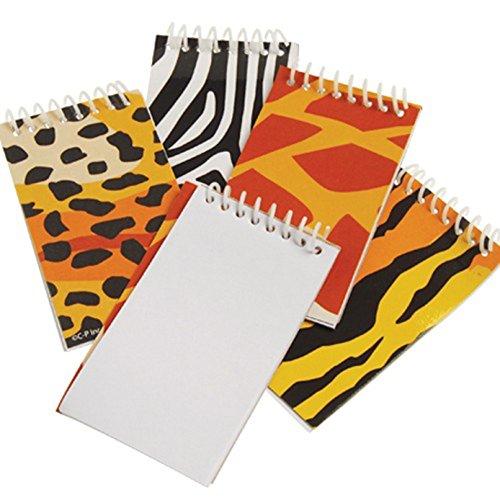 Assorted Safari Jungle Animal Mini Spiral Bound Notebooks - 1