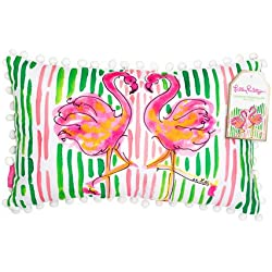 Lilly Pulitzer Pillow (Medium), Flamingo