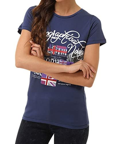 GEOGRAPHICAL NORWAY T-Shirt Manica Corta Snft [Blu Scuro]