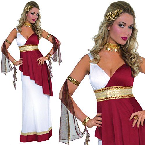 Adult Womens Greek Roman Goddess Toga Empress Fancy Dress Party Costume
