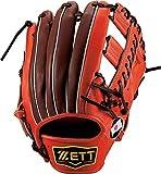 ZETT(ゼット) 軟式 グラブ プロステイタスシリーズ 二塁手・遊撃手用(セカンド・ショート用) ディープオレンジ×チョコブラウン BRGB30550 5837 LH(右投げ用)