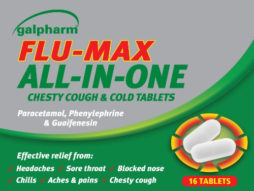 GALPHARM FLU-MAX All-In-One Chesty Cough & Cold Tablets 16's