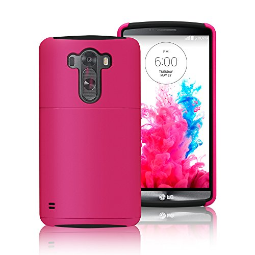 LG G3 Case Cover, Labato® [Stand Feature] Dual Layer [Silicone+Hard Shell] Back Case Cover with Build-in Card Slot, for LG G3 D855(2014 Newest) Brand Package, Multi-Colors Supplied, Black+Rose Color Lbt-LG3-01P33 (Lg3 Cell Phone Accessories Cases compare prices)