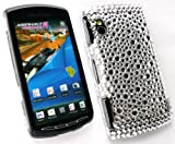 FLASH SUPERSTORE SONY ERICSSON XPERIA PLAY Z1 DIAMANTE HARD BACK COVER SILVER
