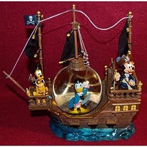 Disney Pirate Mickey Donald & Pluto Snowglobe from Disney Theme Park Merchandise