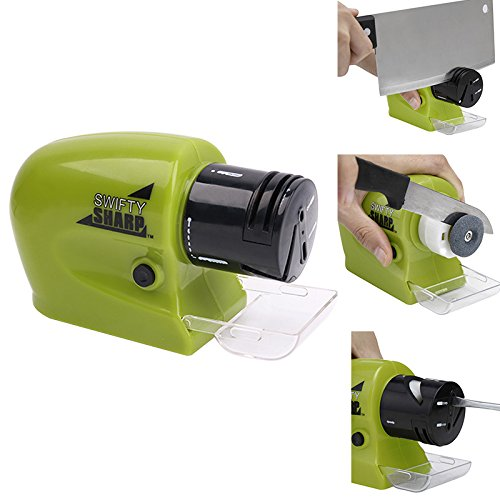 Electric Knife Sharpener -XxSl ,Swifty Sharp Cordless,Motorized Knife Blade Sharpener for All-Sized Household Knives Kitchen Knife Sharpening(Green) (Motorized Knife compare prices)