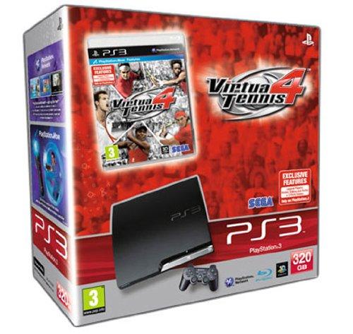 Sony PlayStation 3 Slim Console (320GB Model) with Virtua Tennis 4