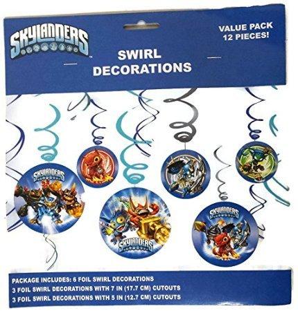 Skylanders Swirl Decorations Value Pack 12 Pieces! - 1