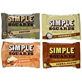 Simple Squares Organic Snack Bars 4 Flavor Variety Pack, 12 Bars