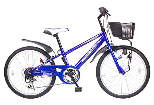 21Technology 22インチ マウンテンバイク kd226 6段ギア付き(ブルー22)