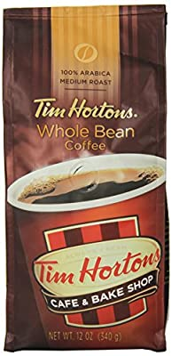 Tim Horton's 100% Arabica Medium Roast Original Blend Whole Bean Coffee, 12 Ounce