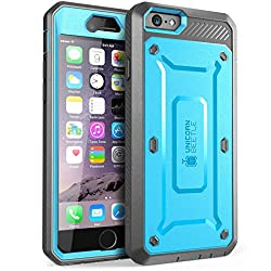 SUPCASE [Heavy Duty] Belt Clip Holster Apple iPhone 6 Plus Case 5.5 inch [Unicorn Beetle PRO Series] Full-body Rugged Hybrid Protective Cover with Built-in Screen Protector (Blue/Black), Dual Layer + Impact Resistant Bumper [Not Fit iPhone 6 4.7 inch]