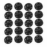 MikiCo Clothes Sewing 15mm Press Studs Buttons Fastener Black 20 Pcs
