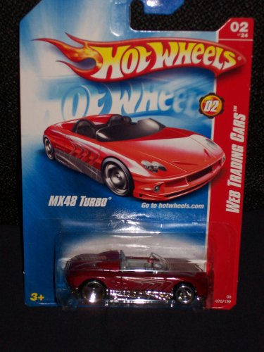 Hot Wheels 2008 Web Trading Cars # 2 of 24 MX48 Turbo Red 2008 078 78 - 1