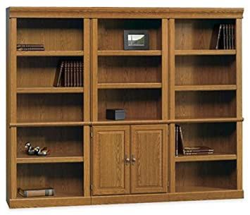 Sauder Office Furniture Orchard Hills Collection Bookcase Wall, Carolina Oak