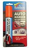 LARGE ORANGE AUTO MARKER - REMOVABLE PAINT FOR AUTO BODY PANELS AND WINDSCREENS