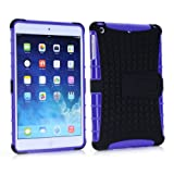 Vogue Shop Ipad mini 2 TPU stand Case, Ipad mini Case Cover - Ipad mini 2 Shock-absorption / Impact Resistant Hybrid Dual Layer Armor Defender Protective Case Cover with Built-in Kickstand for Ipad mini 2 (purple)