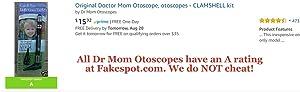 HARD CASE-Doctor Mom Original Pocket Otoscope
