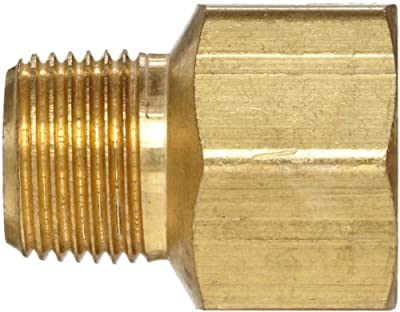Anderson Metals Brass Pipe Fitting, Adapter, NPT Male x NPT Female from Anderson