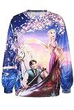 Dear-Lover Women's Disney Cartoon Rapunzel Print Sweatshirt