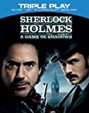 Sherlock Holmes: A Game of Shadows - Triple Play (Blu-ray + DVD + Digital Copy)[Region Free]