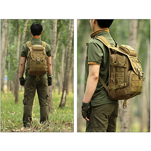 a290012dc281 SUNVP 40L Tactical Daypack MOLLE Assault Backpack Pack Military Gear  Rucksack Large Waterproof Bag Sport Outdoor For Hunting Camping Trekking –  Best …
