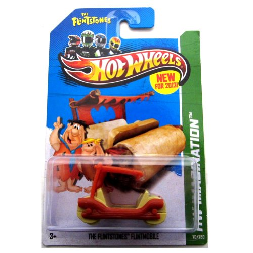 2013 Hot Wheels Hw Imagination 70/250 - The Flintstones Flintmobile