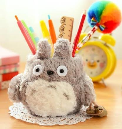 Totoro Plush Pencil Holder