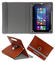 ACM ROTATING 360° LEATHER FLIP CASE FOR NOKIA LUMIA 2520 TABLET STAND COVER HOLDER BROWN