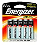Energizer Max AA Alkaline Batteries (8+2 Value Pack)