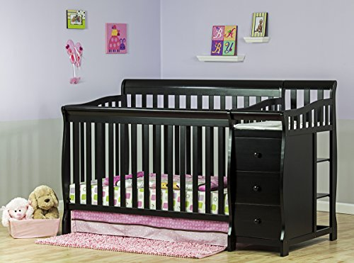 Big Save! Dream On Me 5 in 1 Brody Convertible Crib with Changer, Black