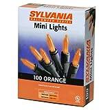 NOMA/INLITEN-IMPORT V34700-88 100-Count Orange Halloween Light Set with Black Wire