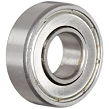 "Nice Ball Bearing 1604DS Double Shielded, 52100 Bearing Quality Steel, 0.3750"" Bore x 0.8750"" OD x 0.2813"" Width"