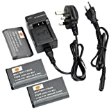 DSTE® 3pcs NP-BX1 Rechargeable Li-ion Battery + Charger DC134U for Sony NP-BX1, NP-BX1/M8 and Sony Cyber-shot DSC-HX50V, DSC-HX300, DSC-RX1, DSC-RX1R, DSC-RX100, DSC-RX100 II, DSC-RX100M II, DSC-WX300, HDR-AS10, HDR-AS15, HDR-AS30V, HDR-AS100V, HDR-AS10