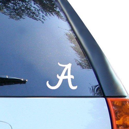 Alabama Crimson Tide White Wordmark Decal  Automotive