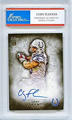 Coby Fleener Autographed Indianapolis Colts Encapsulated Trading Card - Certified Authentic