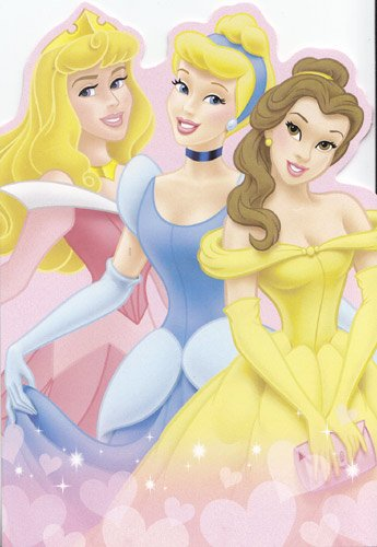 One Card Greeting Card Valentine's Day Disney Princess