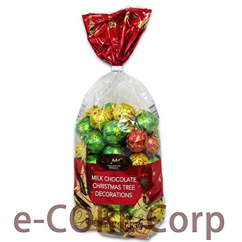 CEMOI クリスマス限定パッケージ チョコレートボール 900g入り フランス製ミルクチョコレート
