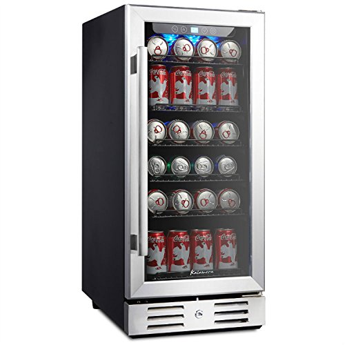 "Kalamera 15"" Beverage cooler 96 can built-in Single Zone Touch Control and Temperature Memory Function"