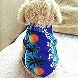 PanDaDa Pet Dog Puppy Clothes Hawaiian Summer T-Shirt Apparel Clothing Beachwear