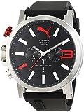 Puma Time Herren-Armbanduhr PU-ULTRASIZE 50 S CHRONO BLACK RED Chronograph Quarz Silikon PU103981001