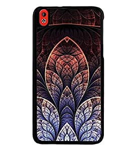 Fuson Premium 2D Back Case Cover Floral Pattern With yellow Background Degined For HTC Desire 826::HTC Desire 826 Dual